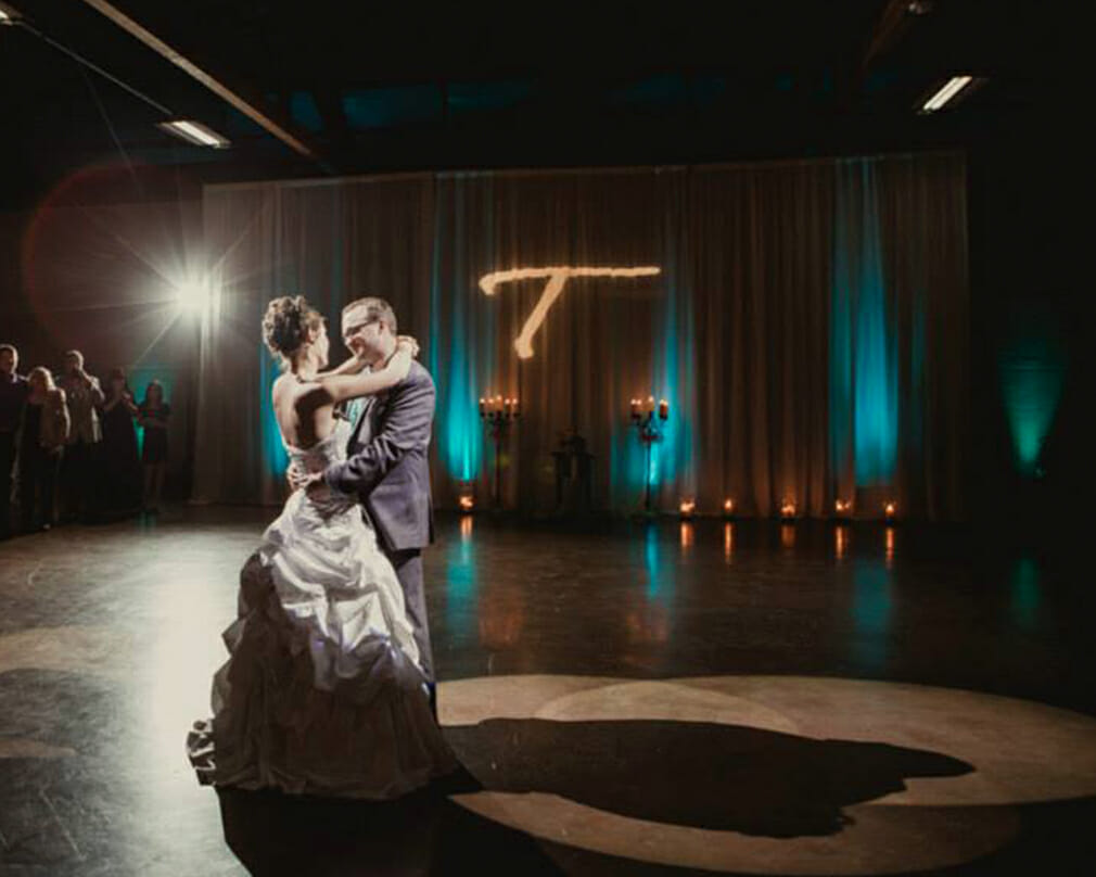 Uplighting and gobos by Cadence Studios